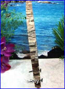 HUGE Petrified Wood COMPLETE ROUND Slab wBarkEXOTIC LAVENDER PINK EXPLOSION 13
