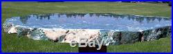 SiS MASSIVE 20 Green, Red & White Hampton Butte Petrified Wood Round